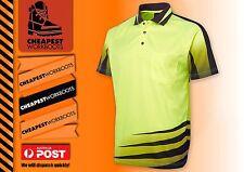3 x Hi Vis POLO Fashionable  Polo Shirt S - 4XL Mens Fasionable Work Wear