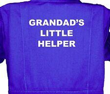 Grandad's Little Helper, Childrens, Kids, Coverall, Boilersuit, Overall 1-8yr Bo