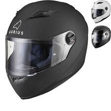 Agrius Rage Solid Motorcycle Helmet Full Face Motorbike Road Bike Pinlock Ready