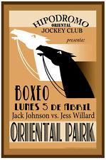 POSTER.Stylish Graphics. Hipodromo.Oriental Park jockey Club. Decor.34i