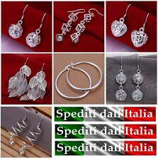 orecchini,argento 925 Sterling Silver da donna,7 modelli,pendenti,idea regalo