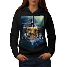 Wellcoda Tiger Lion Cat Fashion Womens Hoodie, Cat Casual Hooded Sweatshirt