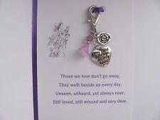 Memory Memorial Keepsake Card Charm Gift Bereavement Loss Remembrance Day Angel