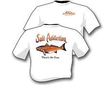 Salt Addiction Fishing t shirt,Saltwater shirt,Ocean,Flats,life,Redfish,drum