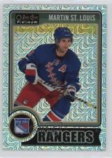 2014-15 O-Pee-Chee Platinum Traxx #43 Martin St Louis New York Rangers St. Card