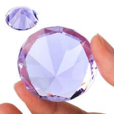 3D Klar Lila Glas-diamant 40mm Diamant Kristallglas Hochzeit Party Zuhause Deko