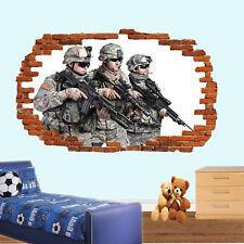 Sniper militaire armée Mur Art Autocollant Mural Decal Kids Room Home Decor EG7