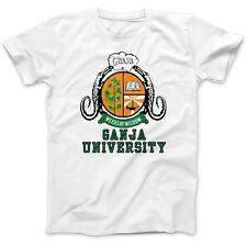 Universidad de Marihuana Cannabis Mariguana hash Camiseta 100% Algodón Premium Spliff