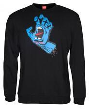 SANTA CRUZ - Screaming Hand - Skateboard Crew  Pullover Top - Black