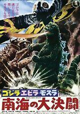 195303 GODZILLA VS SEA MONSTER Wall Print Poster CA
