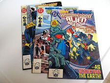 LOT 3 * DC COMICS * ARMAGEDDON ALIEN AGENDA * 1991.# 1.# 2.& # 3.V/G TO V/G+
