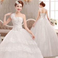 Floral White Wedding Ball Gown One Shoulder Elegant Bride Frock Wedding Dresses