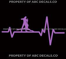 VRS Heart Beat Line DANCING Couple Modern Dance Salsa Splits CAR VINYL DECAL