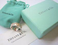 Stunning Men TIFFANY & COMPANY Designer ATLAS Ring 925 Silver T & Co. New York