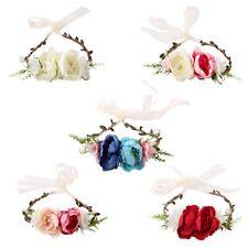 Bohemian Handmade Garland Headband Artificial Flower Crown Headband Female G8X4