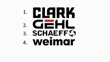 Sticker, aufkleber, decal - Clark Gehl Schaeff Weimar 50 70 100 cm
