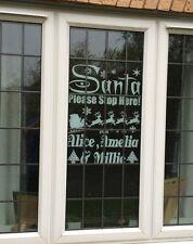 Personalised Santa Stop Here Window Sticker Christmas