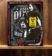 ZOMBIE WALKING DEAD HAZARD DARYL   WORKSHOP Vintage  Metal Wall Sign