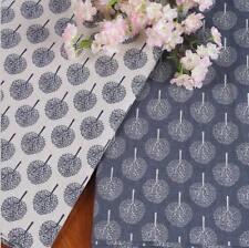 Vintage Big tree Pattern Cloth Natural Cotton Linen Fabric Sewing DIY 100X150CM