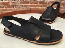 Clarks Artisan Black Nubuck Leather Sultana Rayne Sandals NEW