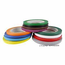 """1/4"""" x 108' Vinyl Adhesive Pinstriping Tape Lane Marking Car Decor Several Color"""