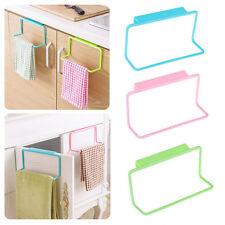 Towel Shelf Hanging Holder Organizer Bathroom Kitchen Cabinet Cupboard Hanger