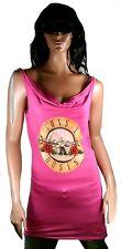WoW AMPLIFIED GUNS N'ROSES Drum Logo Designer Rock Star Dress Kleid Pink M 38/40