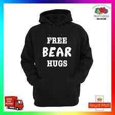 Sudadera con capucha libre Bear Hugs Con Capucha Gracioso Unisex Tumblr insta pintrest Nerd Geek Fuzzy