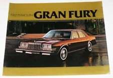 1982 Plymouth Gran Fury Color Car Automobile Brochure
