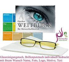 Glasreinigungstuch Brillenputztuch individuell bedruckt mit ihrem Wunsch Foto