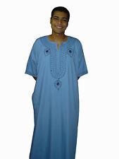Moderner Herren Kaftan Hauskleid aus1001 Nacht hellblau KAM00541