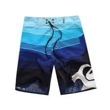 Corona Palm Tree Print Stripe Summer Beach Bathing Suit Mens Board Shorts CMES7