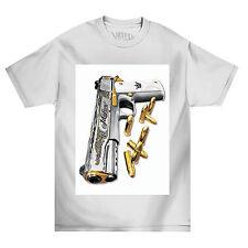 Mafioso Rocket Mens White T Shirt Tattoo Urban Streetwear