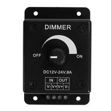 Manual 12-24V 8A  LED Strip Light Switch Dimmer Brightness Adjustable Controller
