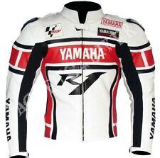 YAMAHA R1 Carreras Chaqueta de Cuero de Moto Chaqueta de Motorista de Cuero