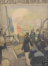 SOLEIL DU DIMANCHE 1897 N 43 LE SALUT AUX COULEURS