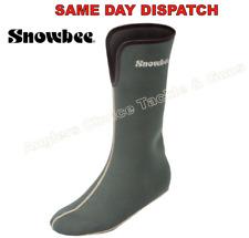 Snowbee Fleece Lined Neoprene Socks - Dark Green