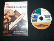 STIHL chainsaw OPERATION & MAINTENANCE DVD