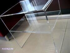 Plexycam Tavolino Comodino in Plexiglass Brillante 35x33x40H mensola spess 8mm