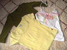 3 Marken-Shirts,H&M,LOGG,Blind date,Gr.M 38,grün,weiß,gelb,gut erhalten