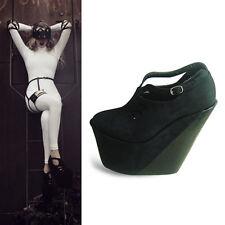 NEU LADY GAGA FASHION schwarz gothic Shoes damen-Schuhe platform cosplay kostüm