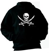 Felpa con cappuccio Ultras hoodie KZ08 Jolly Roger hooligans pirates