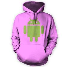 Felpa con Cappuccio per Android-x12 Colori-Sviluppatore TEL TABLET HOBBY MOD Gioco