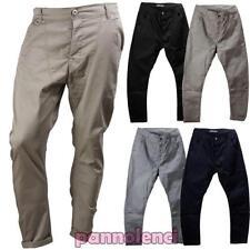 Pantalones de hombre cargo tiro caído harén casual mezcla algodón nuevo AL708