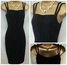Nuevo M&S Negro Acanalado Wiggle X Bodycon Vestido Fiesta Lápiz Elastizado 6-22 R £ 59
