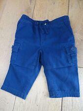 Ralph Lauren Cargo Jogger Baby Boys Blu Navy Pantaloni 6 mesi nuovo con etichetta cotone