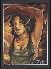 Ex-libris PENET Femme signé 15x21