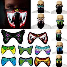 USA STOCK LED Luminous Flashing Face Mask Party Masks Light Up Dance Cosplay