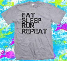 EAT Sleep eseguire ripetere-T shirt-MARATONA RUNNING-Sprinter-Regalo Sport