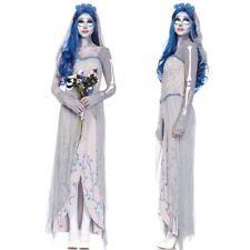 Women Lady Horror Ghost Bride Dress Dead Corpse Zombie Cosplay Halloween Costume